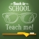 Chalkboard with Glasses - GraphicRiver Item for Sale