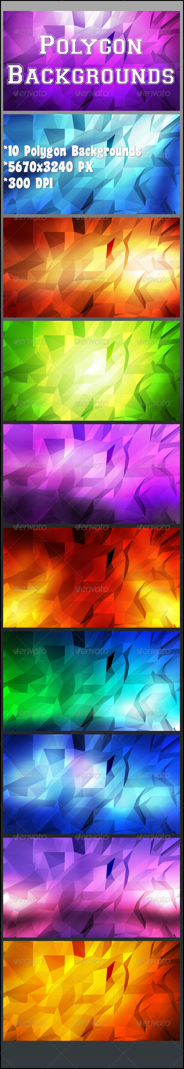 GraphicRiver Polygon Backgrounds 8454295