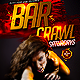 Bar Crawl Flyer Template PSD