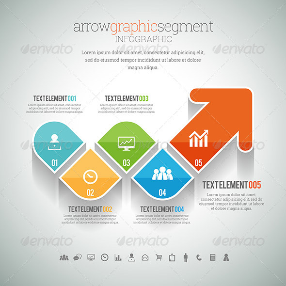 GraphicRiver Arrow Graphic Segment Infographic 8454370