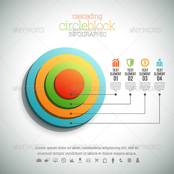 GraphicRiver Cascading Circle Block Infographic 8454373