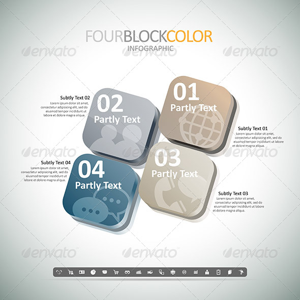 GraphicRiver Four Box Color Infographic 8454382