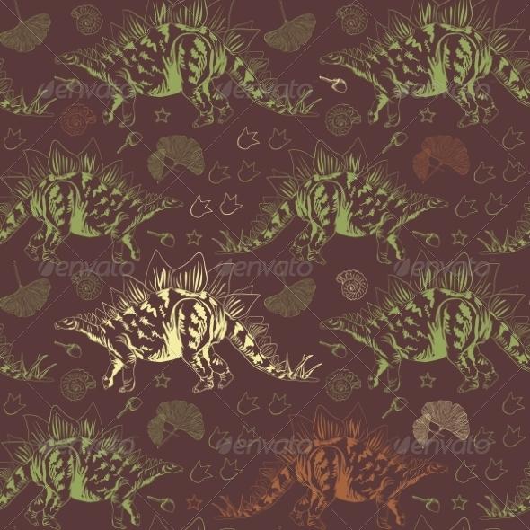 GraphicRiver Jurassic Stegosaurus 8454394