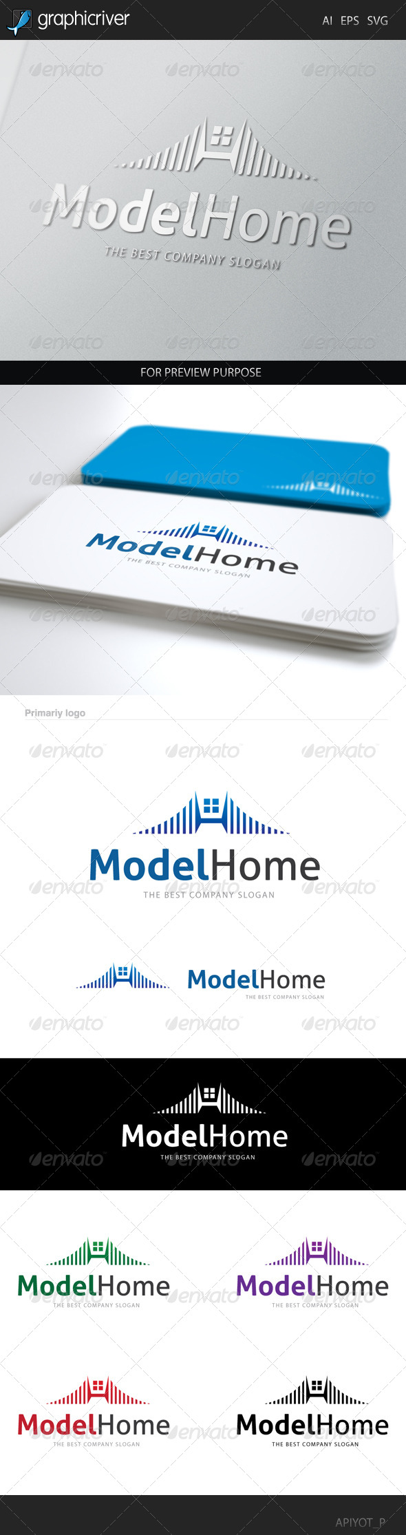 GraphicRiver Model Home Logo 8454397