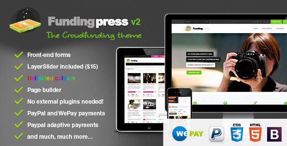 Fundingpress - The Crowdfunding Wordpress Theme - Miscellaneous WordPress