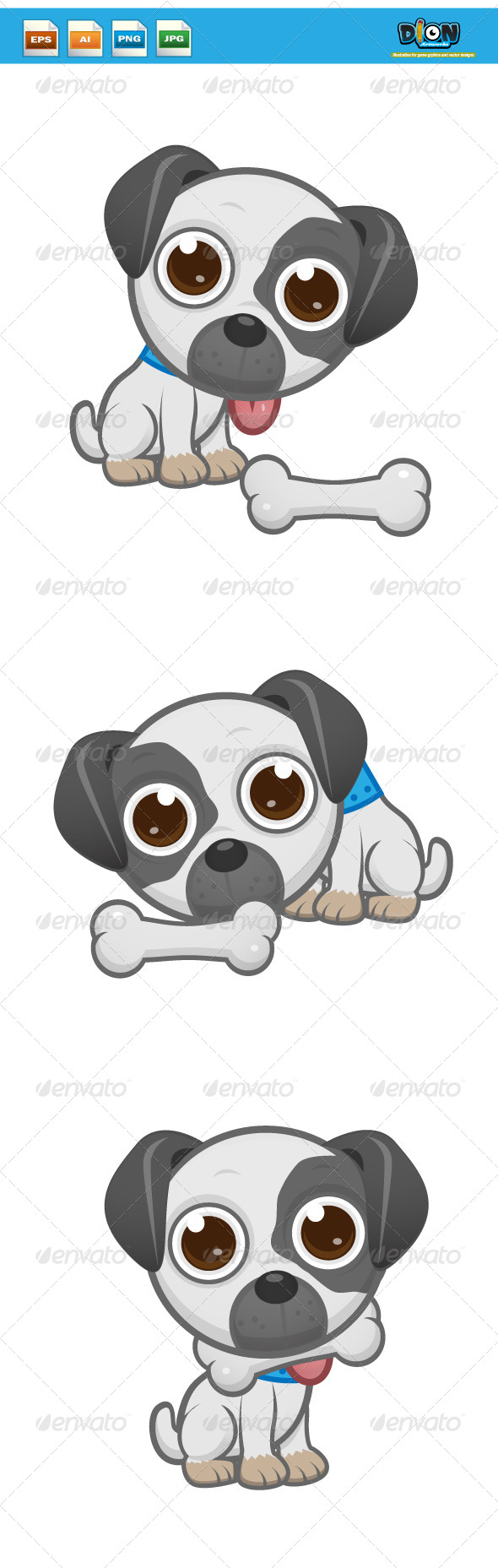 GraphicRiver Cute White Puppy 8454535