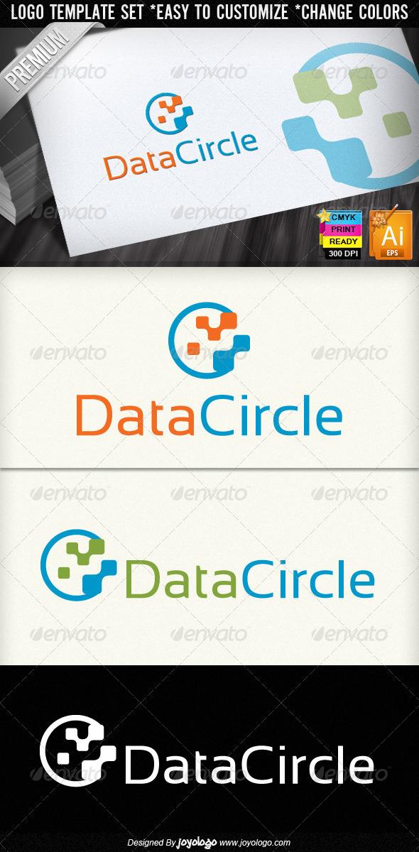 Data Circle Abstract Digital Technology Logo