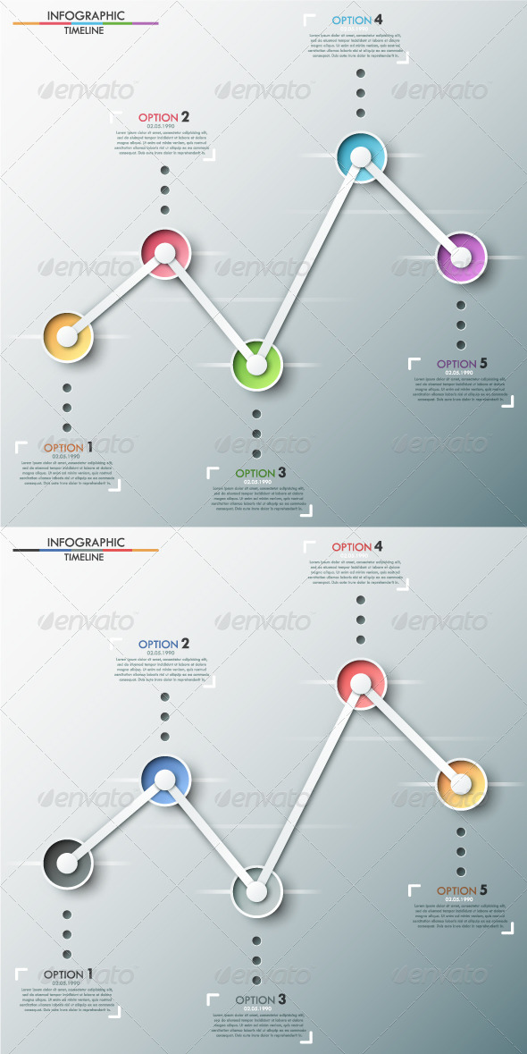 GraphicRiver Modern Infographics Timeline Two Versions 8454577