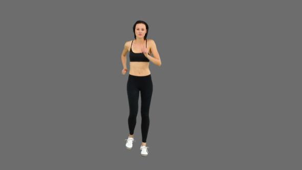 Fit Brunette Jogging 2