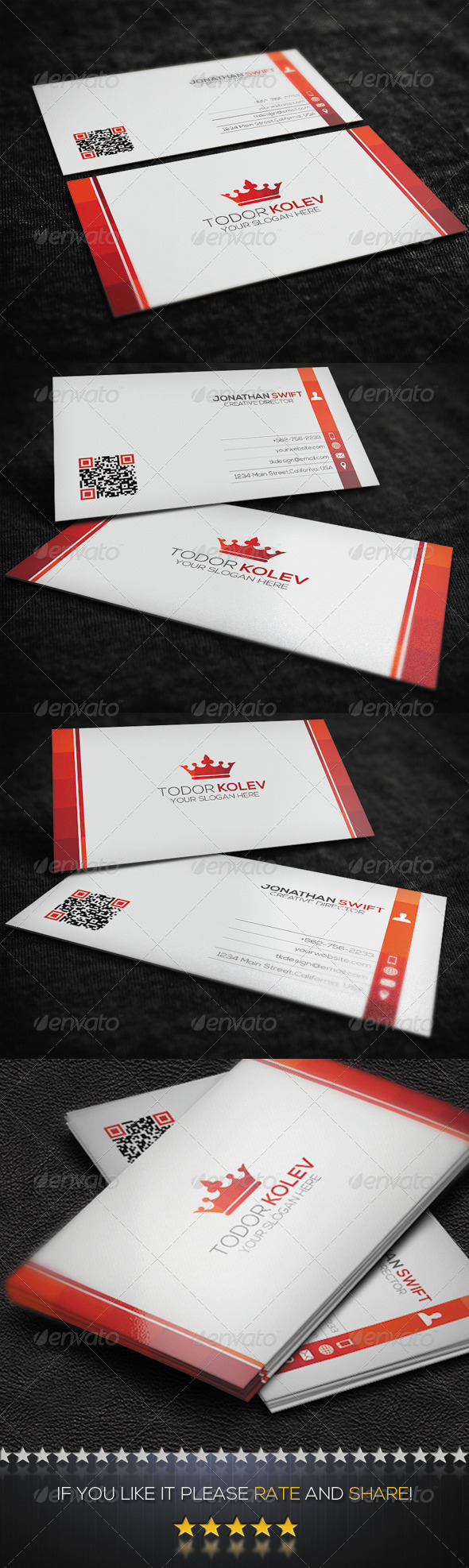GraphicRiver Clean Corporate Business Card No.02 8454595