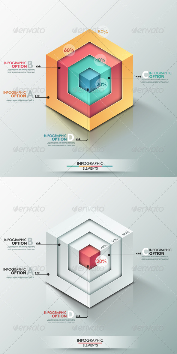 GraphicRiver Modern Infographic Options Banner 2 Versions 8454598