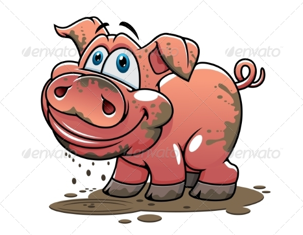 GraphicRiver Cartoon Pig 8455778