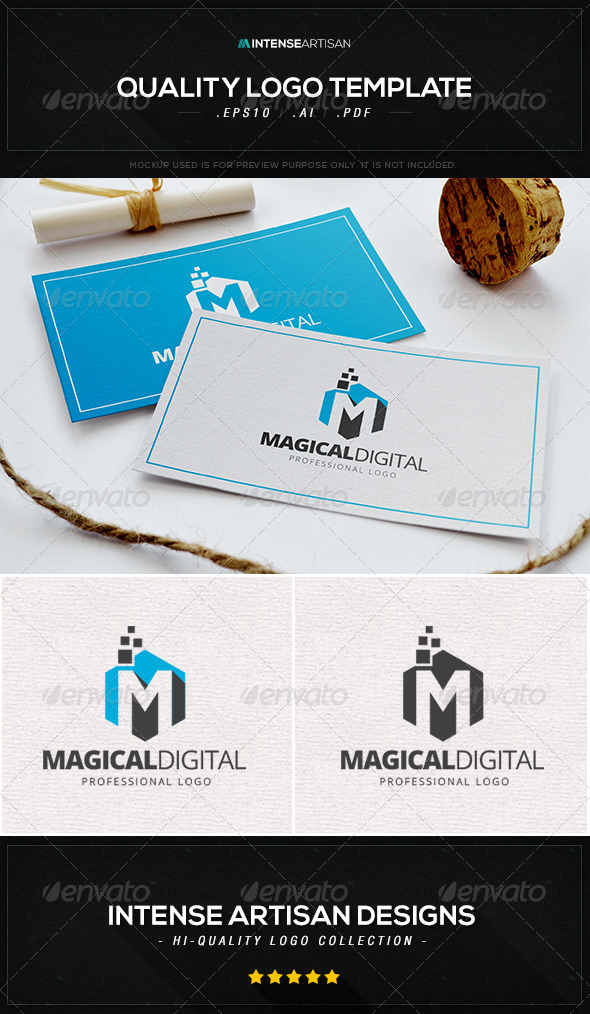 GraphicRiver Magical Digital Logo Template 8456177