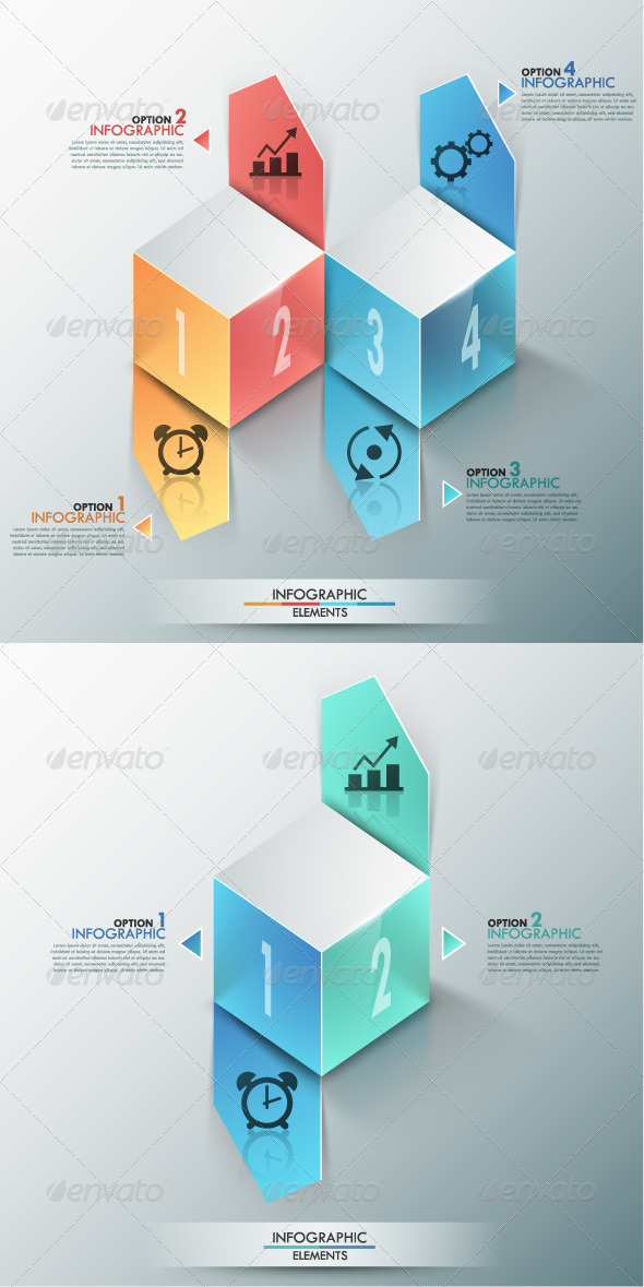 GraphicRiver Modern Infographic Options Banner 2 Versions 8456456