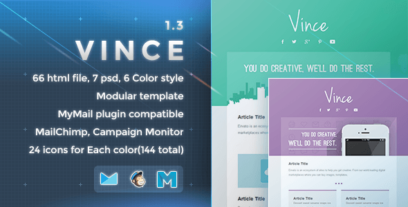 Vince - Responsive Email Template - Newsletters Email Templates