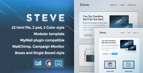 Steve - Responsive Email Template - Newsletters Email Templates