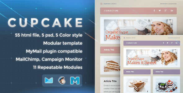 Cupcake - Responsive Email Template