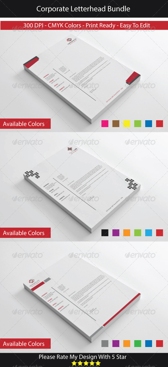 GraphicRiver Corporate Letterhead Bundle 8458915
