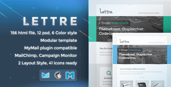 Lettre - Responsive Email Template