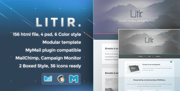 Litir - Responsive Email Template - Newsletters Email Templates