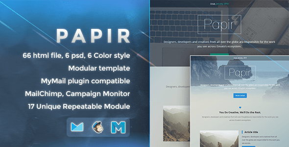 Papir - Responsive Email Template - Newsletters Email Templates