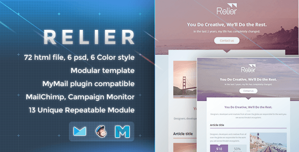 Relier - Responsive Email Template - Newsletters Email Templates
