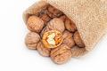 Wallnuts in a sack - PhotoDune Item for Sale