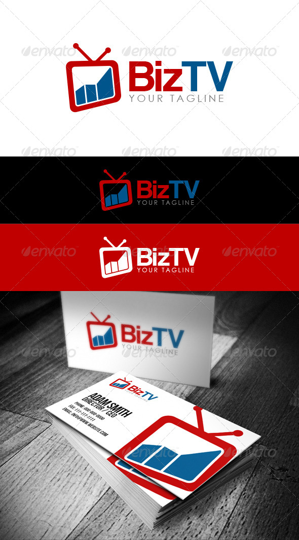 GraphicRiver BizTV Logo 8460459