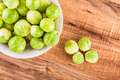 Brussels sprouts on a table - PhotoDune Item for Sale