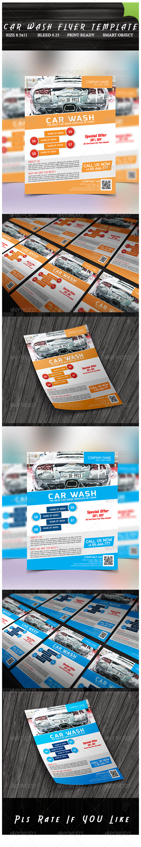 GraphicRiver Car Wash Flyer 8460776