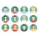 Set of Diverse People Avatar Icons - GraphicRiver Item for Sale