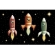 Set of Three Retro Vector Rockets - GraphicRiver Item for Sale