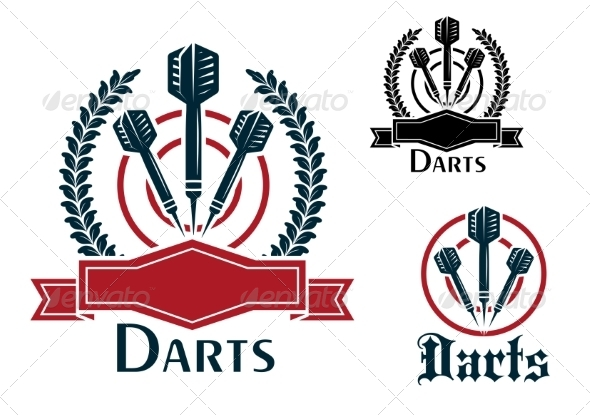 GraphicRiver Darts Sporting Emblems or Badges 8461450