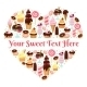 I Love Sweets Heart Shaped Vector Design - GraphicRiver Item for Sale