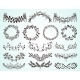Set of Hand-Drawn Floral Borders and Wreaths - GraphicRiver Item for Sale