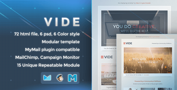 Vide - Responsive Email Template - Newsletters Email Templates