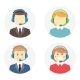 Call Center Operator Icons - GraphicRiver Item for Sale