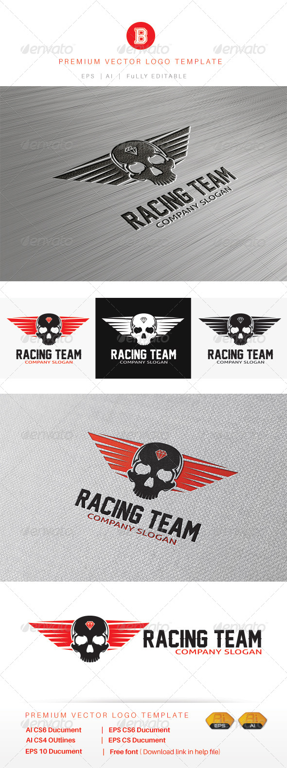 GraphicRiver Racing Team 8462102