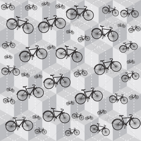 GraphicRiver Bicycle Pattern 8463009