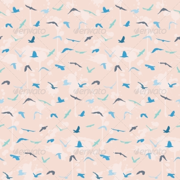 GraphicRiver Seamless Birds Pattern 8463189