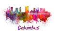 Columbus skyline in watercolor - PhotoDune Item for Sale