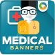 Banner Set of Doctors & Clinic