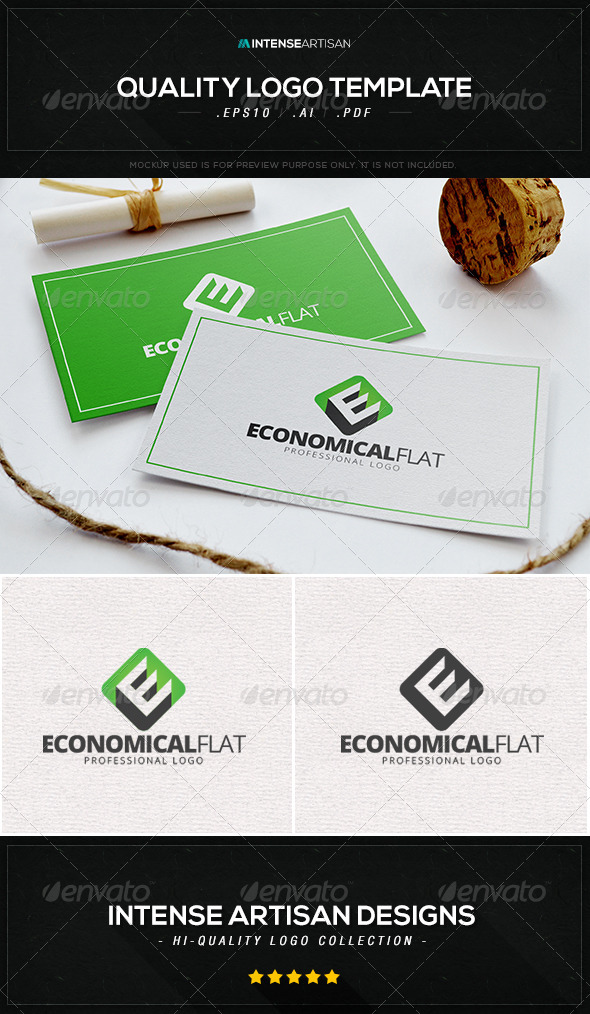 GraphicRiver Economical Flat Logo Template 8463373