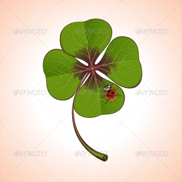 GraphicRiver Clover with Ladybug 8463482