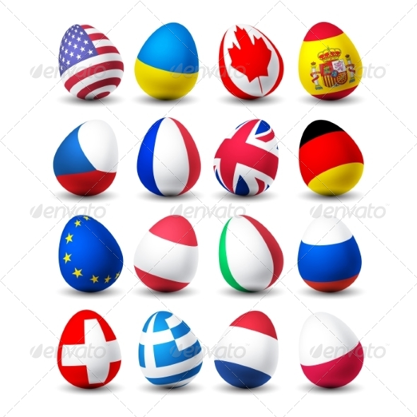 GraphicRiver Egg Flags 8463553