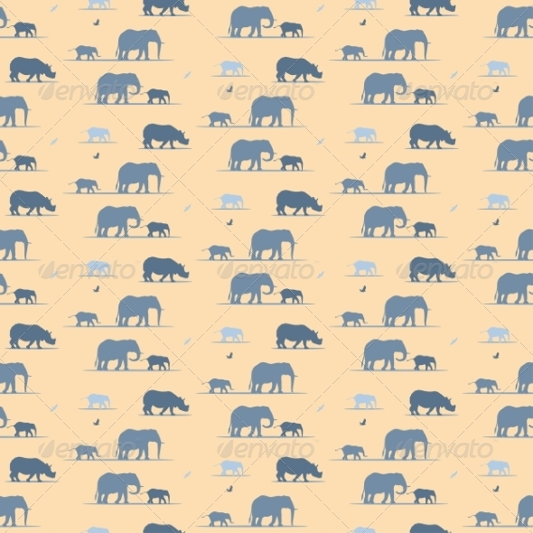 GraphicRiver Elephants Wallpaper 8463555