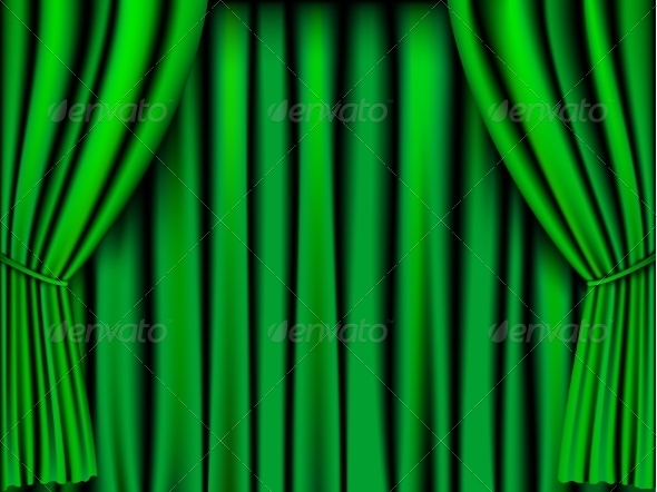 GraphicRiver Green Curtain 8463665