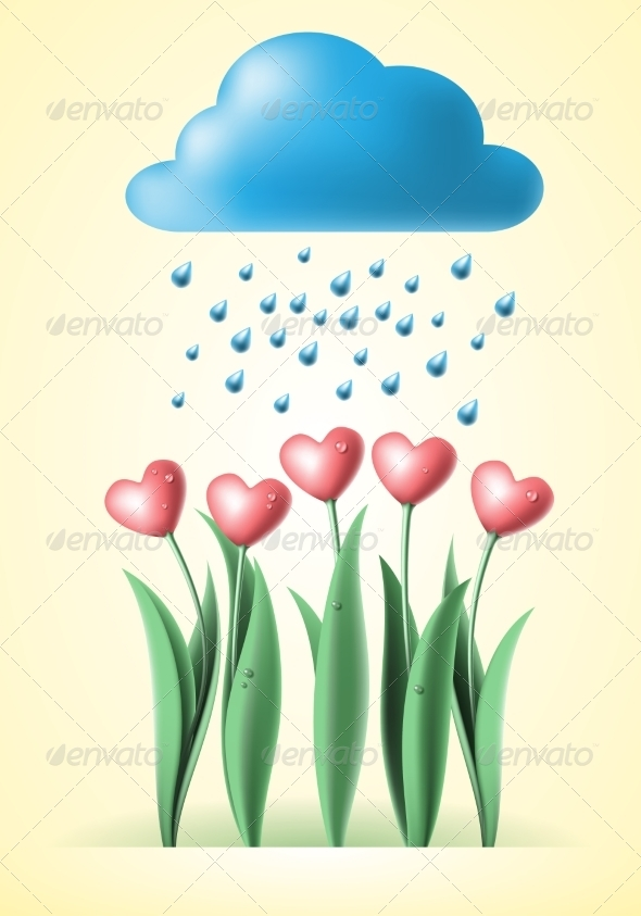 GraphicRiver Heart Tulips 8463673