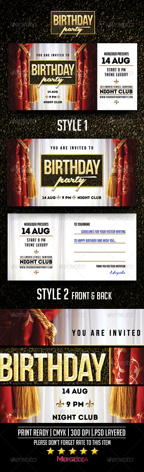 GraphicRiver Birthday Party Invitation 8463676