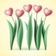 Heart Tulips - GraphicRiver Item for Sale